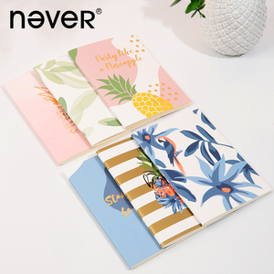 Never Pineapple Series Notebook Blank Paper Notepad Girly Student Simple Style Diary Scrapbooking Book Office School Stationery