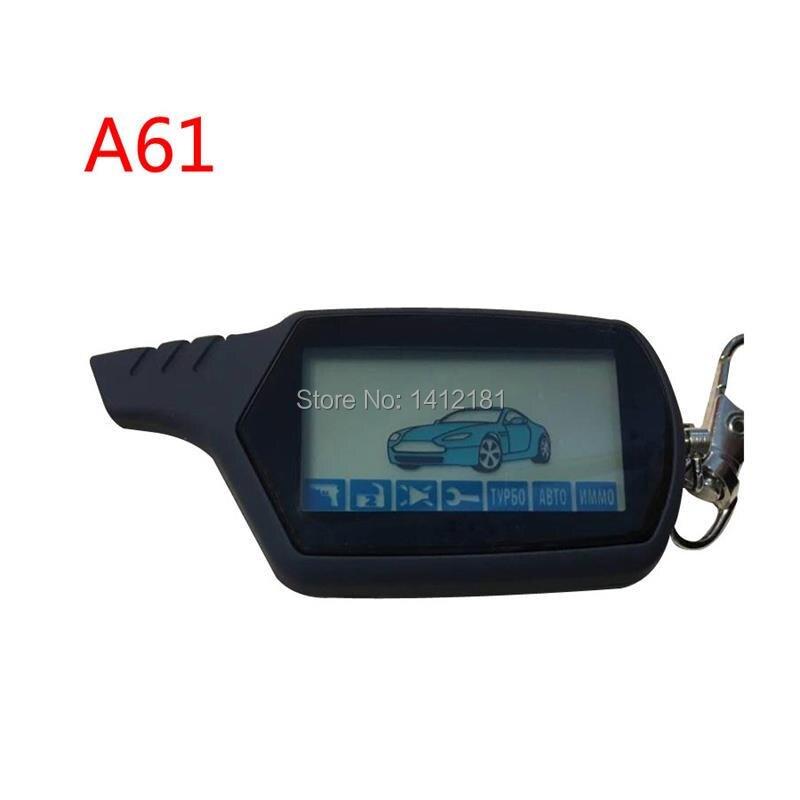 Оптовая продажа Одежда высшего качества 2-полосная A61 ЖК-дисплей дистанционного Управление брелок для StarLine A61 двухстороннее автомобиль сигн...