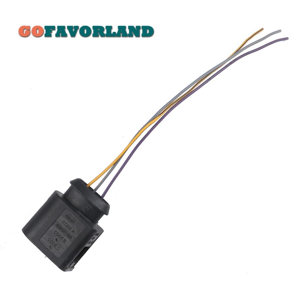 3-контактный разъем w/жгут проводов кабеля 4D0971993 для VW Passat 2006-2016 CC Jetta Golf MK6 Tiguan для Audi A3 A4 A5 A6 A7