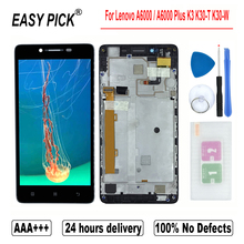 For Lenovo A6000 / A6000 Plus K3 K30 T K30 W LCD Display Touch Screen Digitizer Assembly For Lenovo A6010 / A6010 Plus