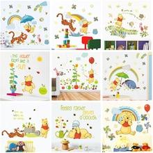 Дисней Винни Пух наклейки на стену спальня детская домашний декор 40*60 см мультфильм наклейки на стену в виде животных ПВХ Фреска Искусство diy обои