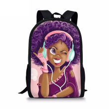 HaoYun Kids Fashion Primary Backpack Black African Girls Pattern School Bags Afro Arts Designer Students Book