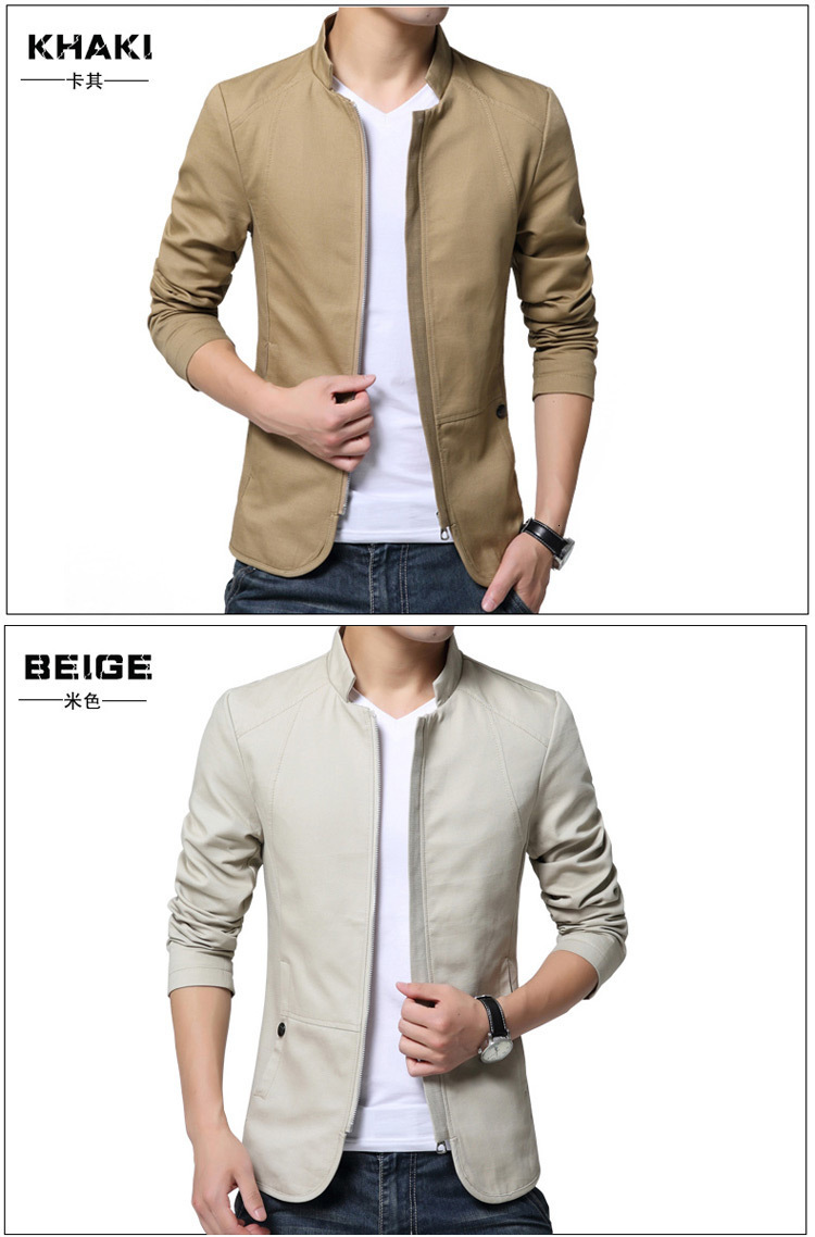 H3a084b7887574c239f58e92bf3afcd08t Autumn Cotton Jacket Men Slim Casual Baseball Jackets For Men Stand Collar With Zipper Coat Homme Fashion Men Clothing M-5XL