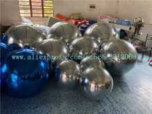 Large inflatable mirror ball, pvc used for mall bar stage suspension display