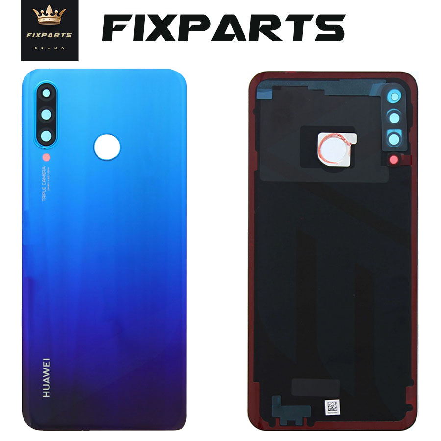 Originlal Back Glass <font><b>Huawei</b></font> <font><b>P30</b></font> Lite <font><b>Battery</b></font> <font><b>Cover</b></font> Rear Door Housing Case with Camera Lens <font><b>Huawei</b></font> Nova 4e <font><b>P30</b></font> Lite <font><b>Battery</b></font> <font><b>Cover</b></font> image