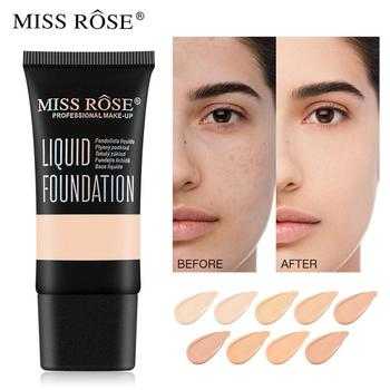 MISS ROSE 9 Colors Face Foundation Cream Waterproof Make Up Base Liquid Foundation Concealer Makeup Cosmetics TSLM1 miss rose makeup concealer full cover face foundation cream natural brighten contouring cosmetics women beauty face base makeup