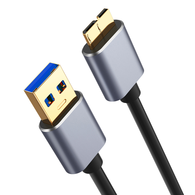 3.0 USB סוג למייקרו B נתונים סנכרון כבל מהיר מהירות USB3.0 כבל עבור כונן קשיח חיצוני דיסק HDD סמסונג S5 הערה 3 מחבר