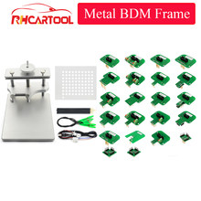 OBD2 Full Set LED BDM Frame Metal Stainless Steel 2 IN 1 With BDM Probe 22pcs Adapters BDM FRAME For KTAG KESS FGTECH ECU Remap(China)