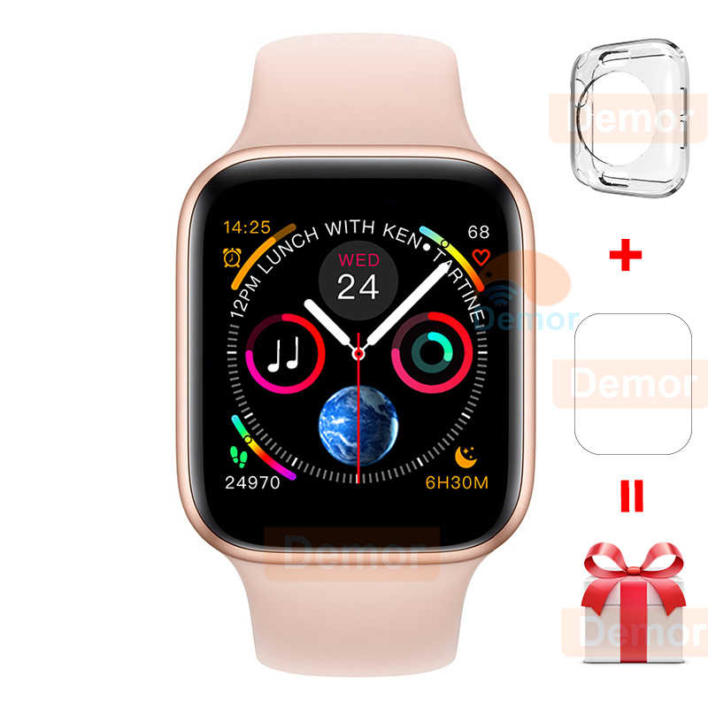 2020 DEMOR IWO 12 Pro Smart Watch 44mm 40mm pulsómetro hombres mujeres Smartwatch para Apple iOS 13 iPhone 11 8 Android 5 teléfono