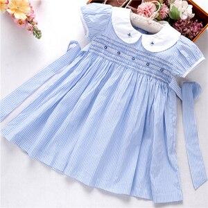 Image 1 - קיץ שמלות רקומות בנות שמלת בישוף בעבודת יד רקמת נסיכת חתונה ורוד בוטיקים בגדי ילדים L191127558