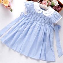 summer smocked dresses for girls dress bishop handmade embroidery princess wedding pink boutiques childrens clothing L191127558