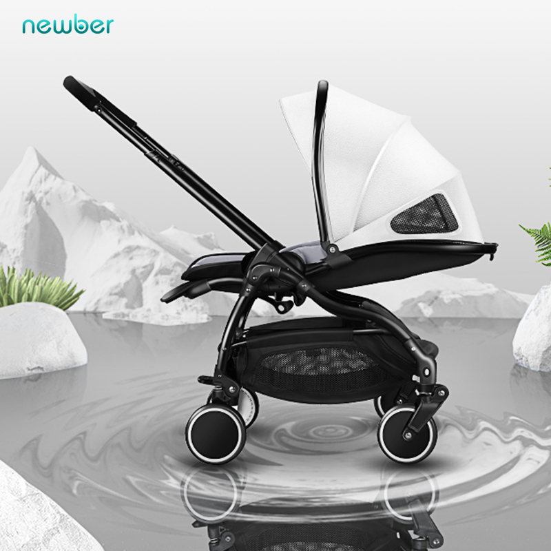 Lightweight baby stroller two-way newborn carriage dual-use folding can sit 0-3 years old children's trolley free shipping