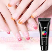 15ml Color Changing Quick Building Poly Extension Gel Crystal Glue Manicure Assistant Nail Tool Temperature Change
