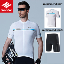 Bib-Suit Jersey Bicycle-Clothes Cycling-Set Sportwear Bike SANTIC Quick-Step Short-Sleeve
