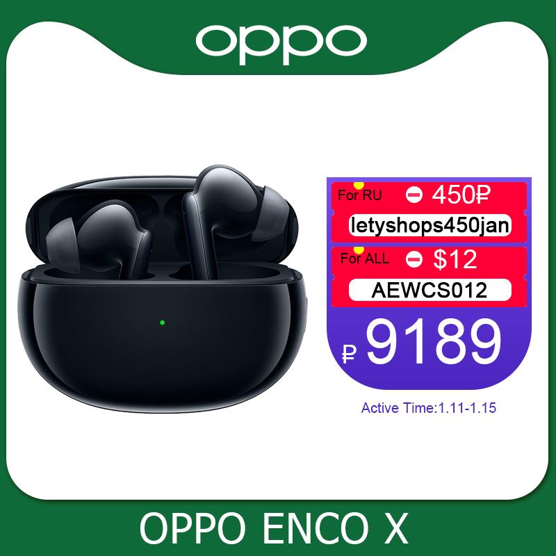 Earphone Bluetooth Oppo Noise Cancelling Reno TWS Enco-X-Ture Wireless for 5-pro/4-se/Find/X2-pro