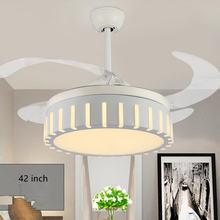 Невидимый потолочный вентилятор 42 дюйма светодиодные акриловые