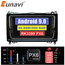 Eunavi 2 din Car radio multimedia Player GPS Android 9 Automotivo For Mercedes Benz Sprinter Viano Vito B-class B200 B180 no dvd(China)