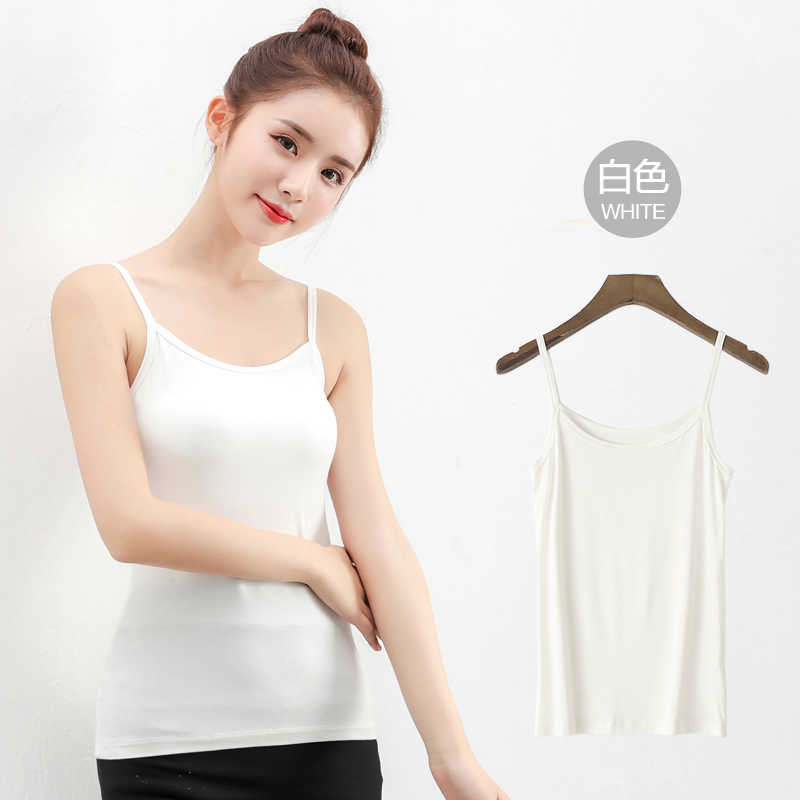 2020 Spring and Summer Casual Camis Korean Chic Camis for Woman Clothes White Modal Woman Camis YY055
