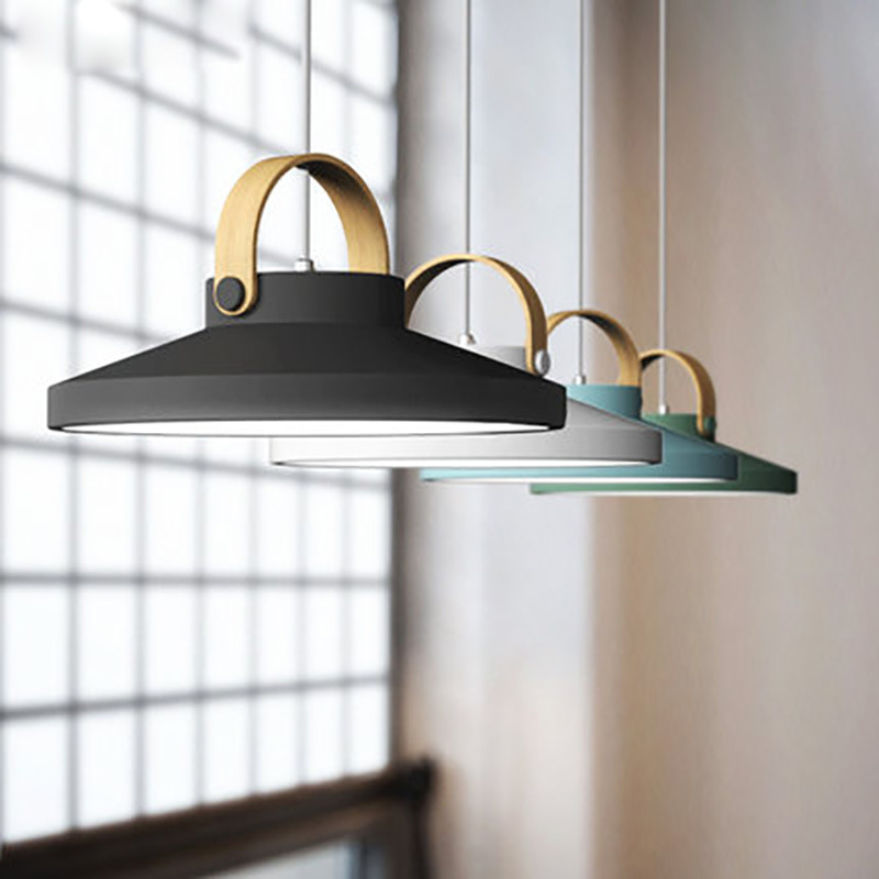 Nordic Indoor Hanging Lamps Fixture Modern Led Pendant Lighting Luminaire Kitchen Dining Room Suspension Light Wooden Lustre Bar