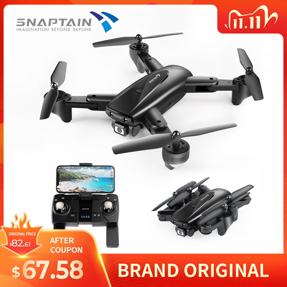 SNAPTAIN SP500 WIFI FPV Drone GPS 1080P Wide Angle HD Drones Camera Foldable Arm RC Quadcopter Professional Camera Drones