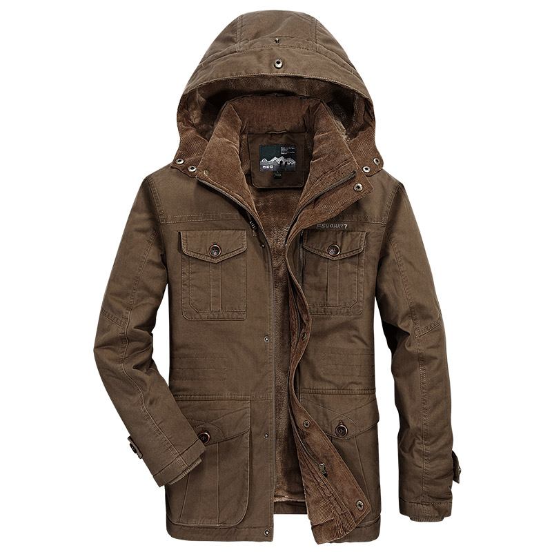 Winter Jacket Men Thick Warm Parka Fur Hooded