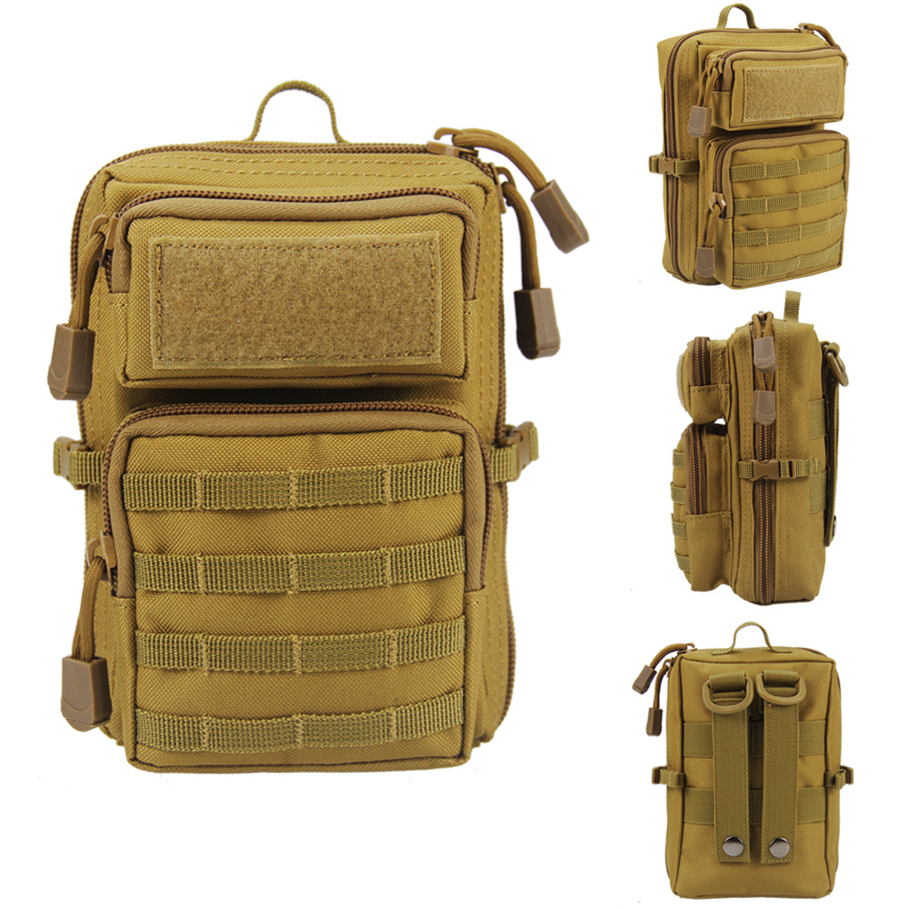 Tactical Molle Pouch 1000D Men Military Shoulder Bag Waist Belt Bag Utility EDC Gear Phone Holster Outdoor Hunting Accessory Bag
