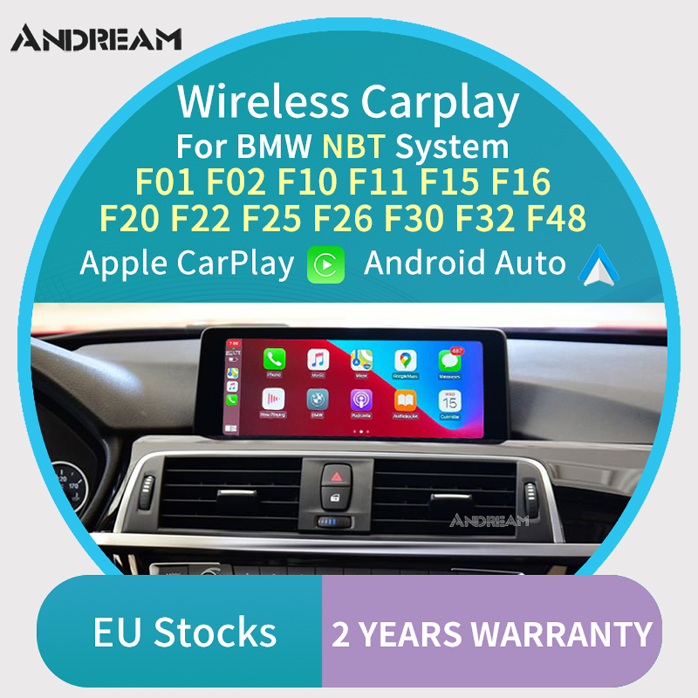 Wireless Carplay Android auto interface box For BMW F01 F10 F12 F15 F16 F20 F22 F25 F26 F30 F32 F48 NBT System MuItimedia IOS(China)
