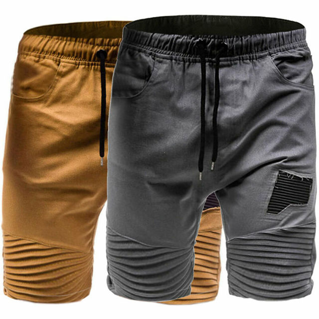 Men's Cargo Elastic Ripped Shorts with Pockets Casual Military Combat Army Outdoor Workout Shorts