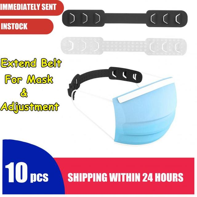 Fast Delivery 10pcs Adjustable Anti-slip Mask Ear Grips High Quality Extension Hook Face Masks Buckle Holder Accessories Hot 3