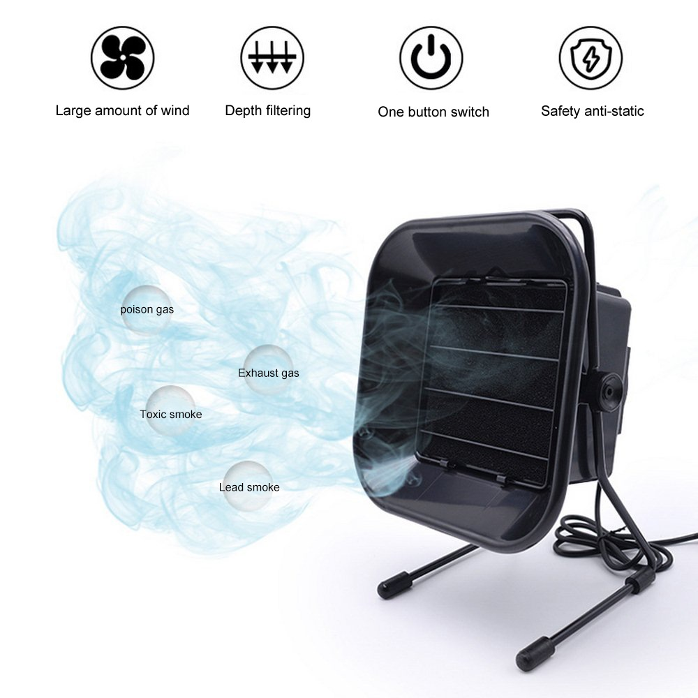 493 Solder Fume Purifier Welding Smoke Absorber Fume Extractor Adjust Angle Air Filter Smoke FanSolder Fume Machine Home Tools