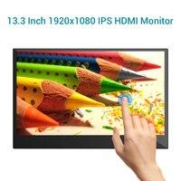 Eyoyo 13.3 inch Gaming Monitor Portable Touchscreen Monitor 1920x1080 IPS HDMI Monitor Second Laptop Monitor Mini PC Screen US