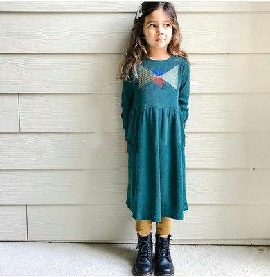 Toddler Girl Dresses Baby Girls Clothes 2021 New Autumn Kids Fashion Brand A-line Dress Children Pattern Princess Thanksgiving 4