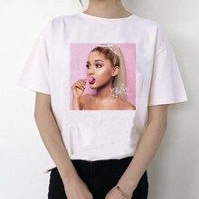 Ariana Grande T Shirt Women Fashion Harajuku Tops Hip Hop Short Sleeve T-shirt