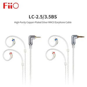 Image 1 - FiiO LC 3.5BS 2.5BS Short cable High Purity Copper Plated Silver Standard MMCX 3.5mm for Shure/FiiO BTR5/BTR3/FH7/F9 Headphones