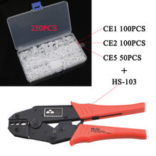 Crimping Pliers for Install Bay Wire Connector Insulated Terminal Crimp Tool for Closed End Crimp Cap Only