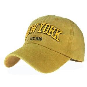 Image 1 - סיטונאי מקרית Snapback כובעי בייסבול כובעי היפ הופ לרקום מכתב כותנה כובע לגברים נשים Casquette עצם gorras para hombre