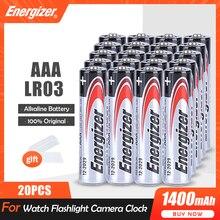 Batteries alcalines AAA 1.5V, 20 pièces, pour lampe torche, horloge, souris, télécommande, brosse à dents, mètre, batterie primaire sèche, LR03