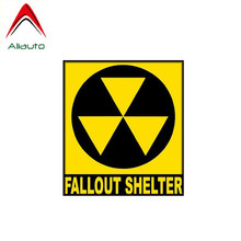 Aliauto Warning Car Sticker Creative Fallout Shelter Decal Accessories PVC for Yeti Peugeot 3008 Ranger Toyota Yaris,11cm*10cm(China)