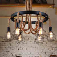 Ceiling Lights for restaurant living room bedroom luminaria de teto modern vintage Ceiling lamp rope Lighting Fixtures