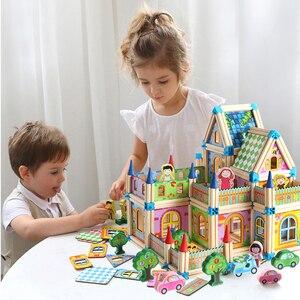 128 sztuk/268 sztuk zabawki miniaturowy domek dla lalek DIY dla lalka dla dzieci dom z lalką drewniany dom dla dzieci prezenty Holiday Times