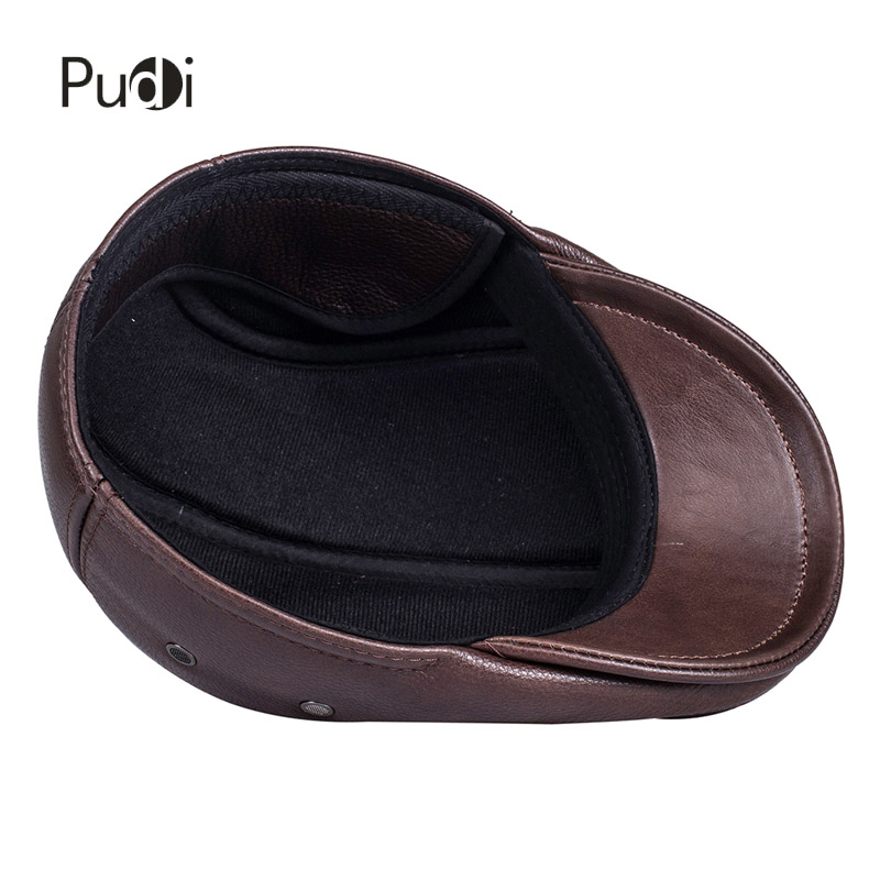 Image 4 - HL042 Spring Mens Real Genuine cow Leather baseball Cap brand Newsboy /Beret  Hat winter warm caps&hats men with ears ear flapleather baseball capbaseball capbaseball cap brand -