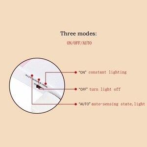 Image 2 - 12 LED PIR อินฟราเรด Stick ON ตู้เสื้อผ้า Night Light USB Motion Detector เซ็นเซอร์เหนี่ยวนำตู้เสื้อผ้า Corridor โคมไฟ 5V