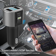 Trasmettitore FM per auto Bluetooth LED Display Digitale MP3 Lettore Radio Kit Adattatore Built-in Microfono Caricatore Doppio del USB(China)