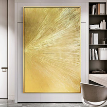 Geometric golden canvas oil painting hand painted abstract texture picture for living room hotel decor bilder wall art