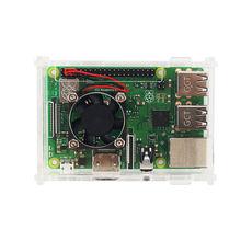 Для Raspberry Pi 3 Model B+(Plus) акриловый чехол, прозрачная крышка корпуса коробки+ вентилятор охлаждения+ алюминиевый радиатор для Raspberry Pi 3 M