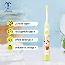 Xiaomi Mijia SOOCAS C1 Elektrikli Diş Fırçası Çocuk SOOCARE Bebek Diş Fırçası Elektrikli sonic Ultra sonic Şarj Edilebilir Diş Fırçası