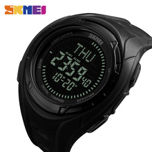 цена SKMEI Fashion Sport Watch Men Compass Countdown Alarm Clock Chrono Digital Stop Watch 5Bar Waterproof Watches 1314 в интернет-магазинах
