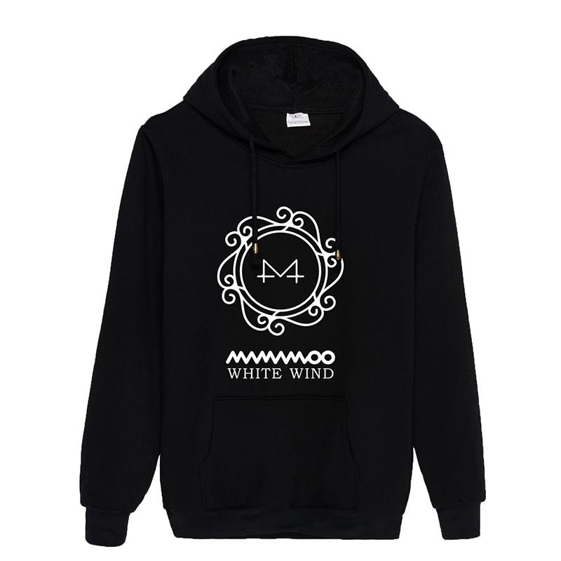 Kpop MAMAMOO New Album White Wind Hooded Sweatshirt Long Sleeve Tops Pullovers Hoodies PT1081