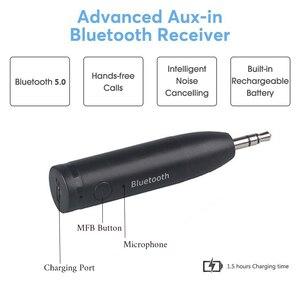 Image 3 - Kablosuz Bluetooth 5.0 araç kiti Mini 3.5mm Jack AUX Handsfree Stereo müzik ses alıcı adaptörü araba kulaklık hoparlör için Z2