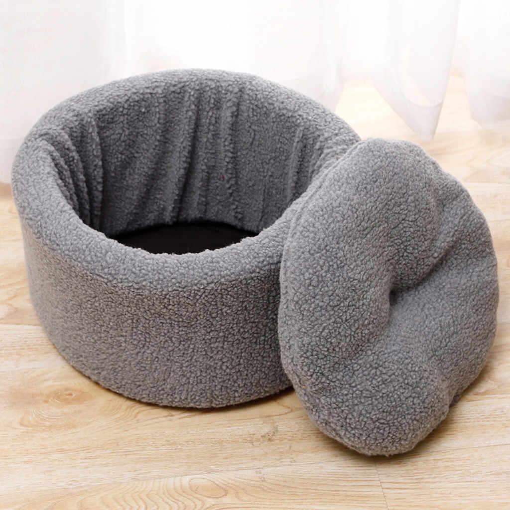 موضة جديدة شبه مغلقة سميكة بلون صوف الضأن فرشة إسفنجية مستلزمات سرير الحيوانات الأليفة جرو حصيرة بطانية عش 2 ألوان 20Jan10